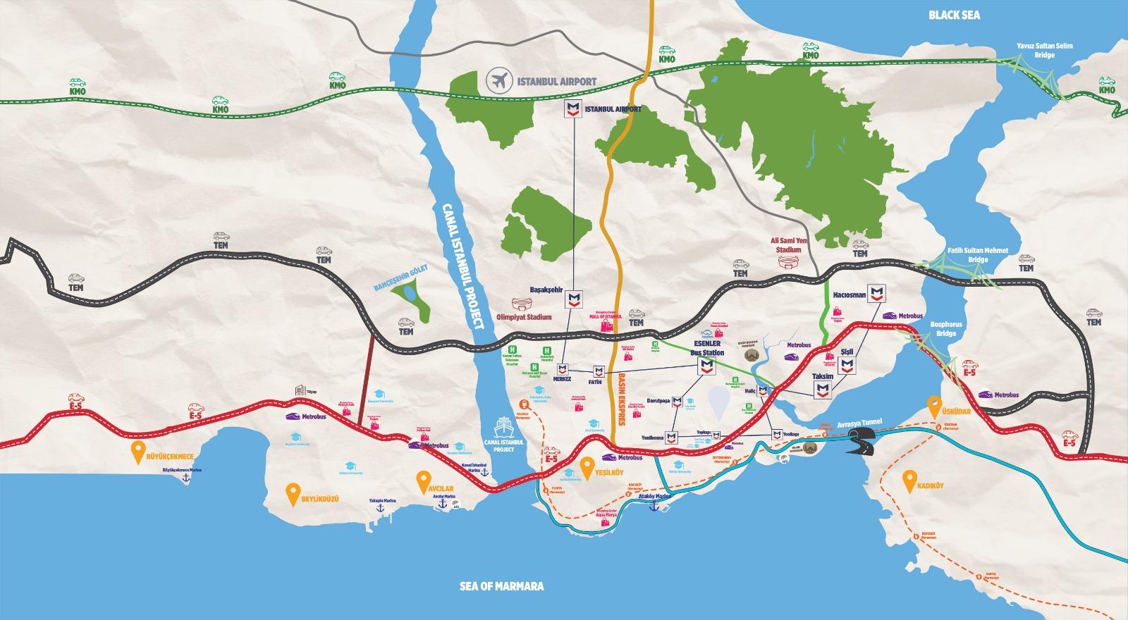 networks grup kanal istanbul haritası